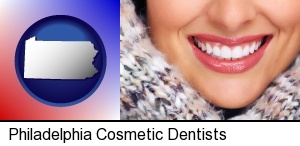 Philadelphia, Pennsylvania - beautiful white teeth forming a beautiful smile