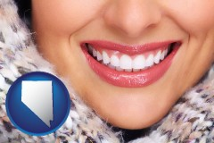 nevada beautiful white teeth forming a beautiful smile