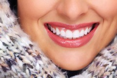beautiful white teeth forming a beautiful smile